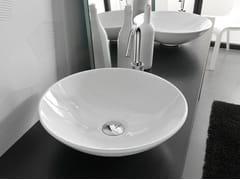 - Countertop round ceramic washbasin POLIS - Hidra Ceramica