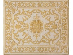 - Patterned handmade rectangular rug POMPADOUR GOLD - EDITION BOUGAINVILLE