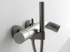 - Wall-mounted bathtub mixer with diverter with hand shower POP | Bathtub mixer - ZAZZERI