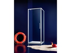 - Corner glass shower cabin with hinged door PRAIA - 4 - INDA®