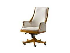 - Swivel leather executive chair with casters PRESIDENT | Medium back executive chair - Morelato