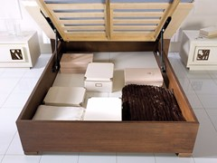 - Double bed with tufted headboard PRIMA CLASSE | Storage bed - Arvestyle