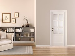 - Lacquered wood and glass door PRIMA - LEGNOFORM