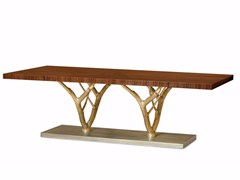 - Rectangular walnut dining table PRIMITIVE | Dining table - Ginger & Jagger