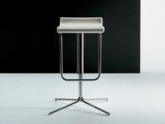 - High leather stool with 4-spoke base with footrest PRINCE | Stool with 4-spoke base - D.M.