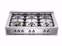 - Piano cottura a gas in acciaio inox PROFESSIONAL - CB36 6 00 X - Bertazzoni