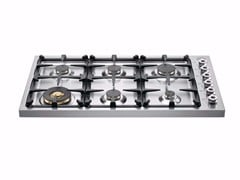 - Gas built-in hob PROFESSIONAL - DB36 6 00 X - Bertazzoni