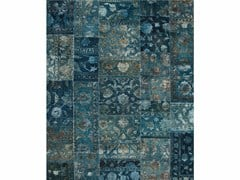 - Tappeto fatto a mano PROVENANCE WOOL & SILK - TEAL BLUE - Jaipur Rugs