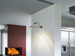 - Adjustable metal wall lamp with swing arm PUK FLEXLIGHT DOUBLE WALL - Top Light