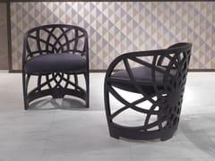 Sedia imbottita con braccioliGALILEO | Sedia con braccioli - CARPANELLI CONTEMPORARY
