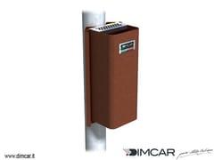- Steel ashtray Posacenere Cenerino con attacco su palo - DIMCAR
