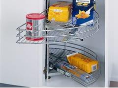 Accessorio interno per la cucina in acciaioCestello a mezzaluna girevole estraibile - WÜRTH