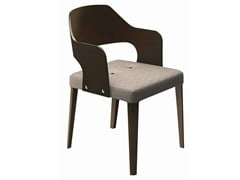 - Upholstered wooden easy chair with armrests Punto 165 - Metalmobil