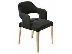 - Upholstered wooden easy chair with armrests Punto 166 - Metalmobil