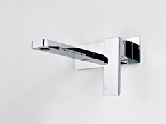 - Wall-mounted single handle washbasin mixer QQUADRO - ZAZZERI