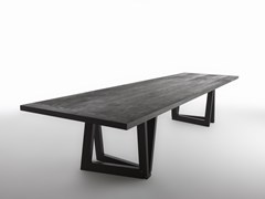 - Rectangular ash table QUADROR™ 03 - HORM.IT