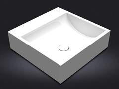 - Countertop square resin washbasin QUARENTA | Countertop washbasin - Vallvé Bathroom Boutique