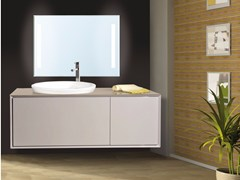 - Lacquered wall-mounted vanity unit with mirror QUARZO CM02Q - LA BUSSOLA