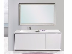 - Lacquered wall-mounted vanity unit with mirror QUARZO CM04Q - LA BUSSOLA