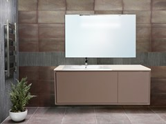 - Lacquered wall-mounted vanity unit with mirror QUARZO CM05Q - LA BUSSOLA