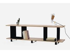 - Open oak bookcase QUBIK - Galula
