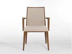 - Fabric chair with armrests QUEEN | Chair with armrests - Potocco