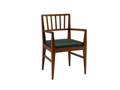 - Cherry wood chair with armrests RACHELE | Chair with armrests - Morelato