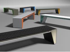 Panchina in acciaio zincato senza schienaleRADIUM | Panchina in acciaio zincato - MMCITÉ1