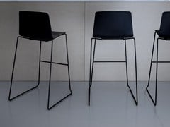 - Sled base stackable counter stool RAMA | Counter stool - Kristalia