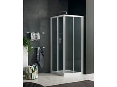 - Corner glass shower cabin with sliding door RAPID - 1 - INDA®