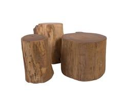 Tavolino di servizio in legno masselloREMIX | Tavolino in legno massello - IL GIARDINO DI LEGNO