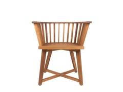 Sedia da giardino in legno con braccioliREMIX | Sedia in legno - IL GIARDINO DI LEGNO
