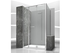 - Custom tempered glass shower wall panel REPLAY RM+RV - VISMARAVETRO
