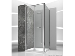 - Corner custom tempered glass shower cabin REPLAY RN+RG - VISMARAVETRO
