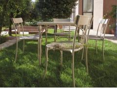 - Square steel garden table RETRÒ | Square table - Talenti