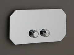 Placca di comando per wc in ottonePlacca di comando per wc - BLEU PROVENCE