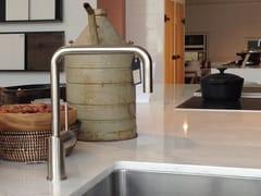 - Countertop brushed-finish stainless steel kitchen mixer tap RHYTHM RH-300 - Nivito