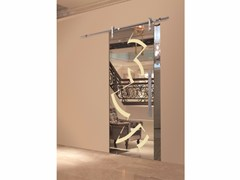 - Glass sliding door RIFLESSI MIRROR & CHAMPAGNE - Casali