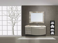 - Lacquered wall-mounted vanity unit with drawers RODI CM02RO - LA BUSSOLA