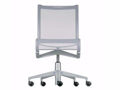 - Height-adjustable swivel task chair with casters ROLLINGFRAME+ LOW - 448 - Alias