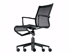 - Height-adjustable swivel task chair with armrests ROLLINGFRAME+ LOW - 449 - Alias