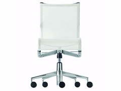 - Height-adjustable swivel task chair with casters ROLLINGFRAME+ TILT - 444 - Alias