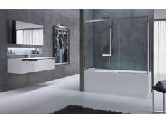 Parete per vasca modulare pieghevole in cristallo in stile classicoROSE ROSSE V - NOVELLINI