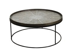 - Round coffee table with tray ROUND TRAY TABLE LOW XL - Notre Monde