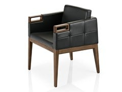 - Leather easy chair with armrests ROVEN | Easy chair with armrests - J. MOREIRA DA SILVA & FILHOS, SA