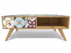 Tavolino in rovere e maiolicaROVERE MAIOLICATO | Tavolino - CERAMICA FRANCESCO DE MAIO