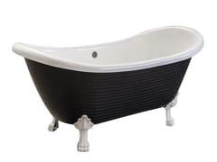 Vasca da bagno centro stanza su piediROYAL - PURE BLACK - SAIKALLYS