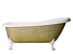 Vasca da bagno centro stanza su piediROYAL - GLOSSY GOLD - SAIKALLYS