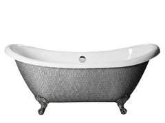 Vasca da bagno centro stanza su piediROYAL - MIX SILVER - SAIKALLYS