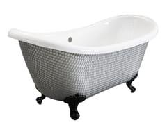 Vasca da bagno centro stanza su piediROYAL - NEW SILVER - SAIKALLYS